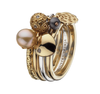Virtue London Ring - Polka Rose Gold Plate from the Rings collection at Argenteus Jewellery