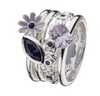 Virtue London Ring - Lavender Wonder Flower from the Rings collection at Argenteus Jewellery