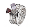 Virtue London Ring - Solar Weave Cubic Zirconia from the Rings collection at Argenteus Jewellery