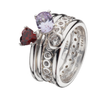 Virtue London Ring - Heart Beat Red Cubic Zirconia from the Rings collection at Argenteus Jewellery
