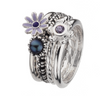Virtue London Ring - Purple Pansy Flower from the Rings collection at Argenteus Jewellery