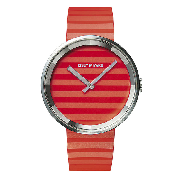 Issey Miyake 'PLEASE' Collection Watch Red Stripe from the Watches collection at Argenteus Jewellery