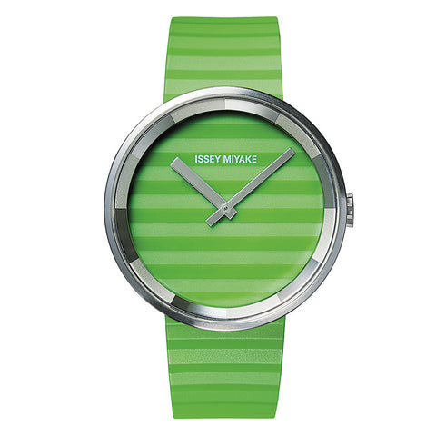 Issey Miyake 'PLEASE' Collection Watch Green Stripe