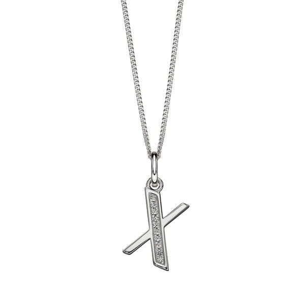 Alphabet Necklace - X from the Necklaces collection at Argenteus Jewellery