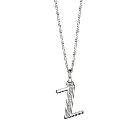 Alphabet Necklace - Z from the Necklaces collection at Argenteus Jewellery