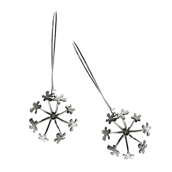 Chervil head drop earrings from the Earrings collection at Argenteus Jewellery