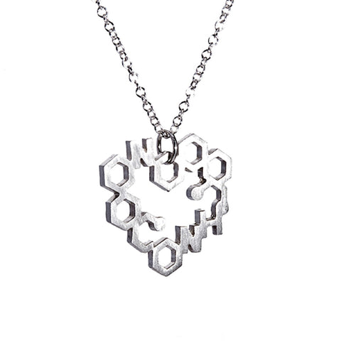 Small heart drop necklace from the Necklaces collection at Argenteus Jewellery