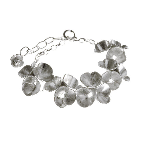 Blossoms drop bracelet from the Bracelets collection at Argenteus Jewellery