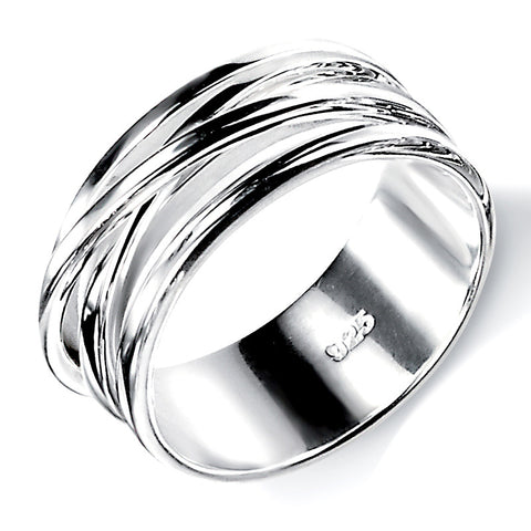 Wrapped Wire Band Ring from the Rings collection at Argenteus Jewellery