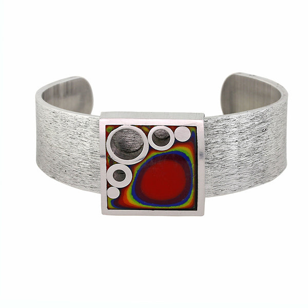 Norman Eames - Rainbow Square Bangle from the Bangles collection at Argenteus Jewellery