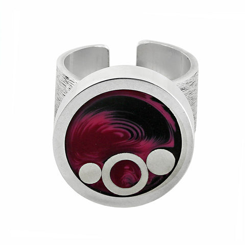 Norman Eames - Purple Circle Ring from the Rings collection at Argenteus Jewellery