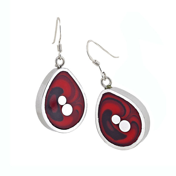 Norman Eames - Red Teardrop Earrings from the Earrings collection at Argenteus Jewellery