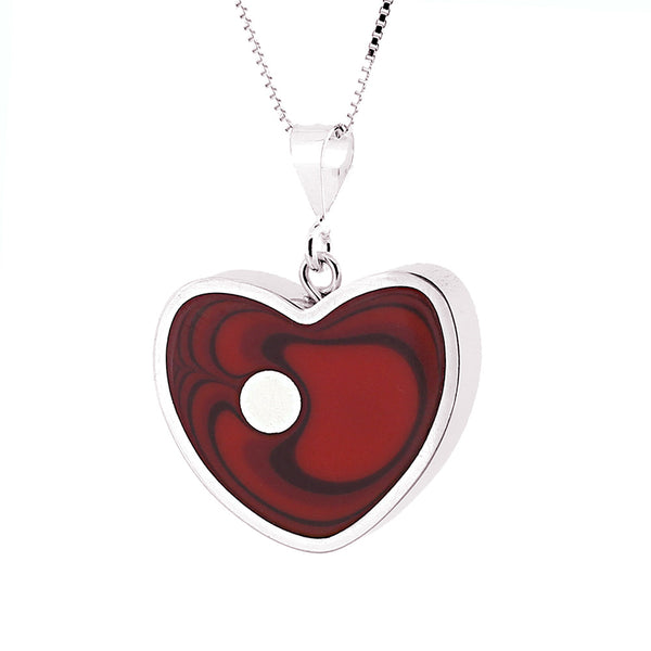 Norman Eames - Red Heart Necklace from the Necklaces collection at Argenteus Jewellery