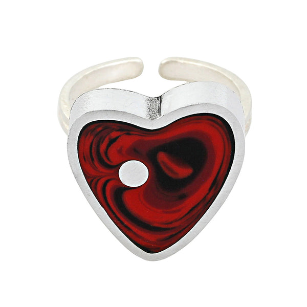 Norman Eames - Red Heart Ring from the Rings collection at Argenteus Jewellery