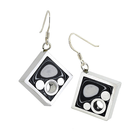 Norman Eames - Black Square Earrings