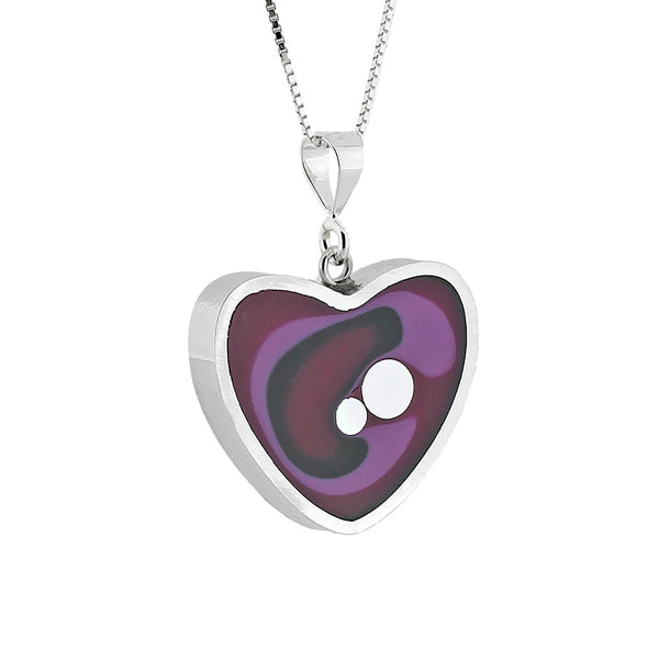 Norman Eames - Purple Heart Necklace from the Necklaces collection at Argenteus Jewellery