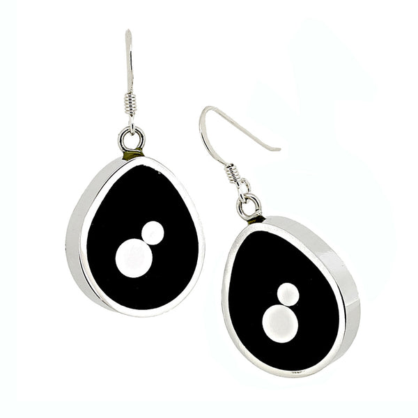 Norman Eames - Black Teardrop Earrings from the Earrings collection at Argenteus Jewellery