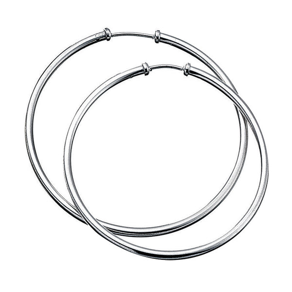 50mm Sterling Silver Hoop Earrings from the Earrings collection at Argenteus Jewellery