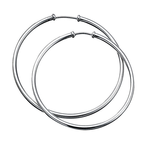 50mm Sterling Silver Hoop Earrings