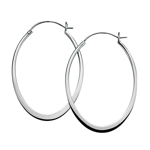45mm x 33m Flat Oval Hoop Earrings