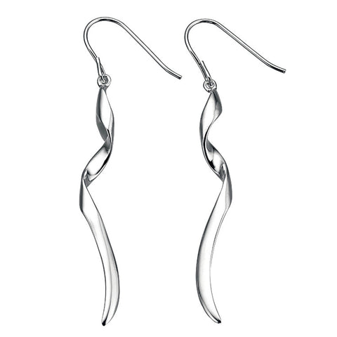 Long Twist Drop Earrings from the Earrings collection at Argenteus Jewellery
