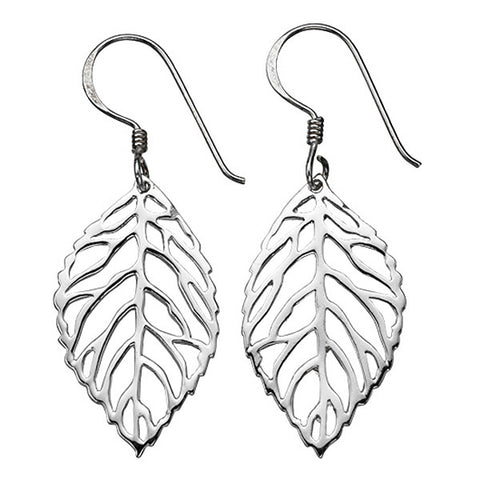 Open Leaf Drop Earrings from the Earrings collection at Argenteus Jewellery
