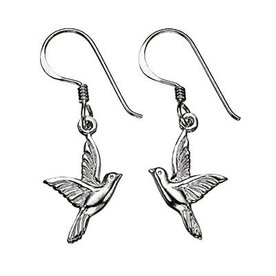 Oxidised Detail Bird Earrings from the Earrings collection at Argenteus Jewellery