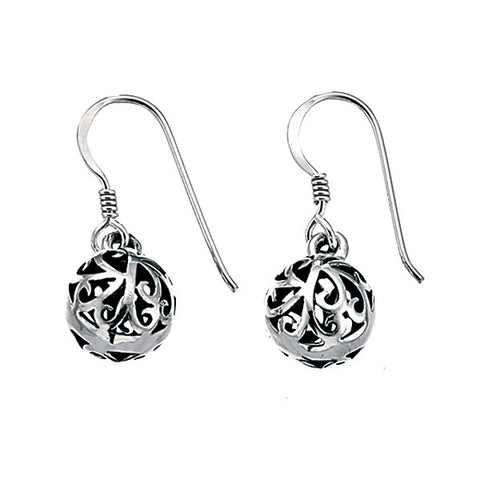 Filigree Ball Drop Earrings from the Earrings collection at Argenteus Jewellery