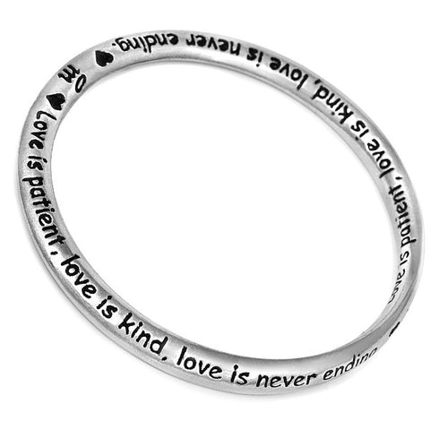 Message Bangle - Love from the Bangles collection at Argenteus Jewellery