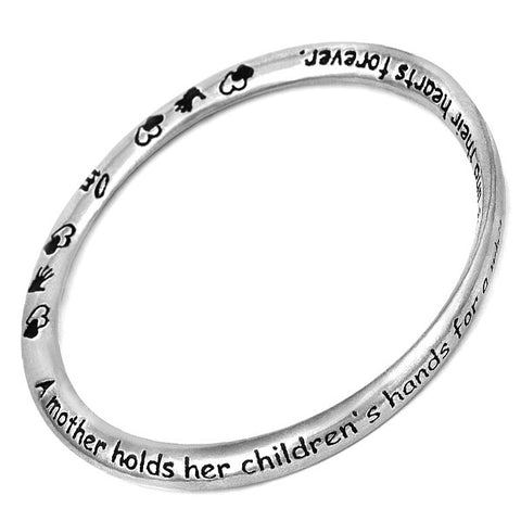 Message Bangle - Mother from the Bangles collection at Argenteus Jewellery