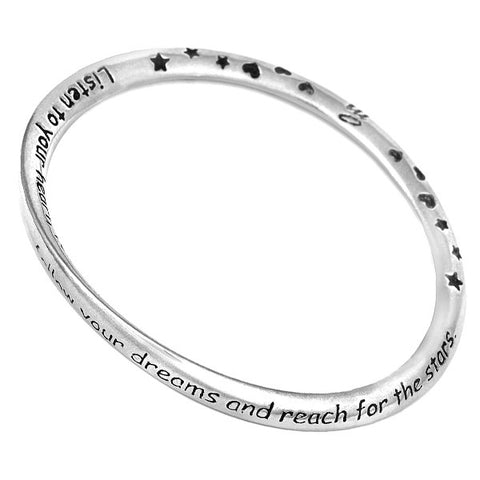 Message Bangle - Follow Your Dreams from the Bangles collection at Argenteus Jewellery