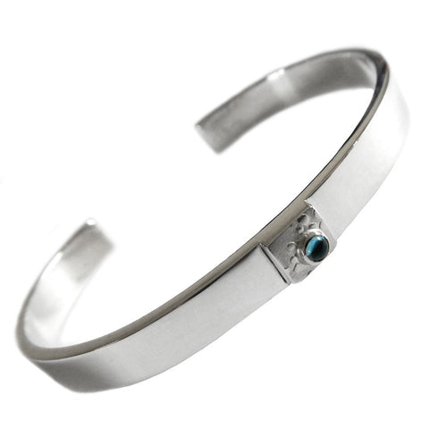 Hazel Davison - Blue Topaz Torc Cuff Bangle