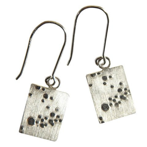 Hazel Davison - Bubbles Rectangle Drop Earrings from the Earrings collection at Argenteus Jewellery