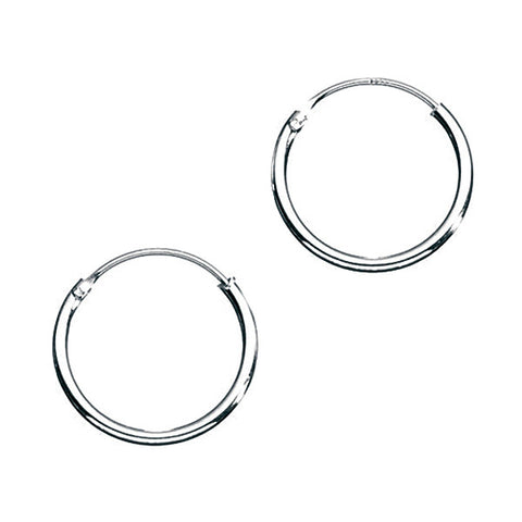 12mm Fine Sterling Silver Hoop Earrings from the Earrings collection at Argenteus Jewellery
