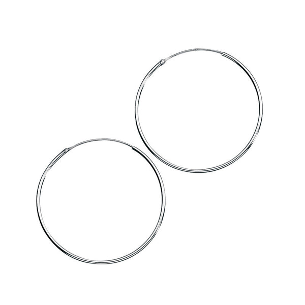 40mm Fine Sterling Silver Hoop Earrings from the Earrings collection at Argenteus Jewellery