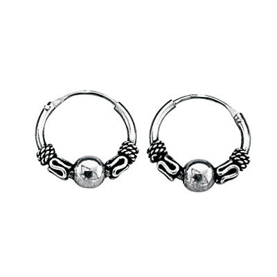 Balinese Pattern Tiny Hoop Earrings from the Earrings collection at Argenteus Jewellery