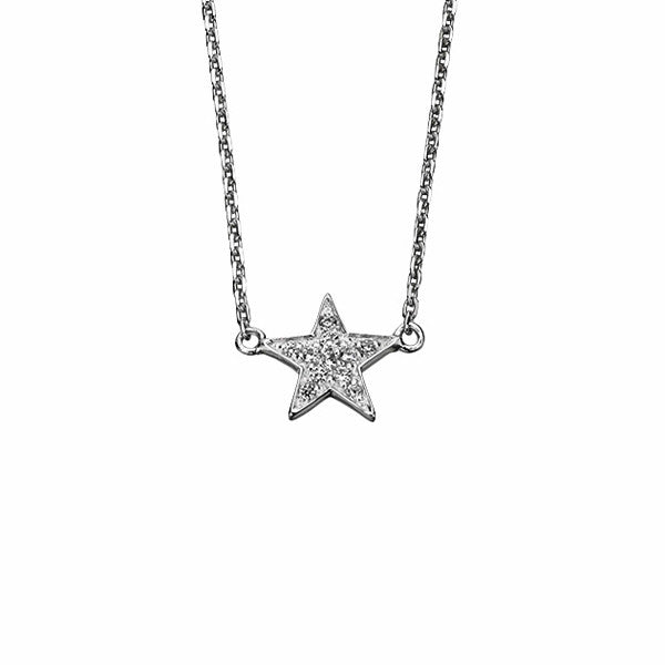 Crystal Star Necklace from the Necklaces collection at Argenteus Jewellery