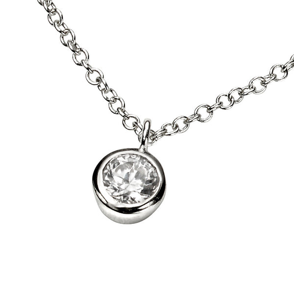 Cubic Zirconia Solo Necklace from the Necklaces collection at Argenteus Jewellery
