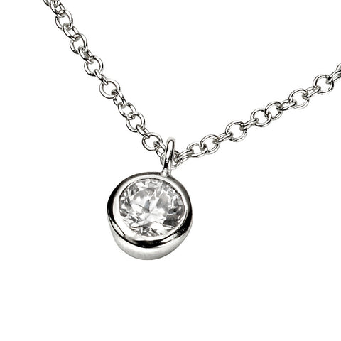 Cubic Zirconia Solo Necklace