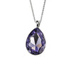 Purple Swarovski Crystal Teardrop Necklace from the Necklaces collection at Argenteus Jewellery
