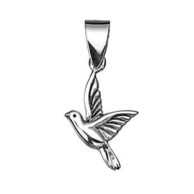 Oxidised Detail Bird Pendant from the Pendants collection at Argenteus Jewellery