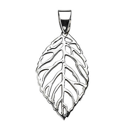 Open Leaf Drop Pendant from the Pendants collection at Argenteus Jewellery