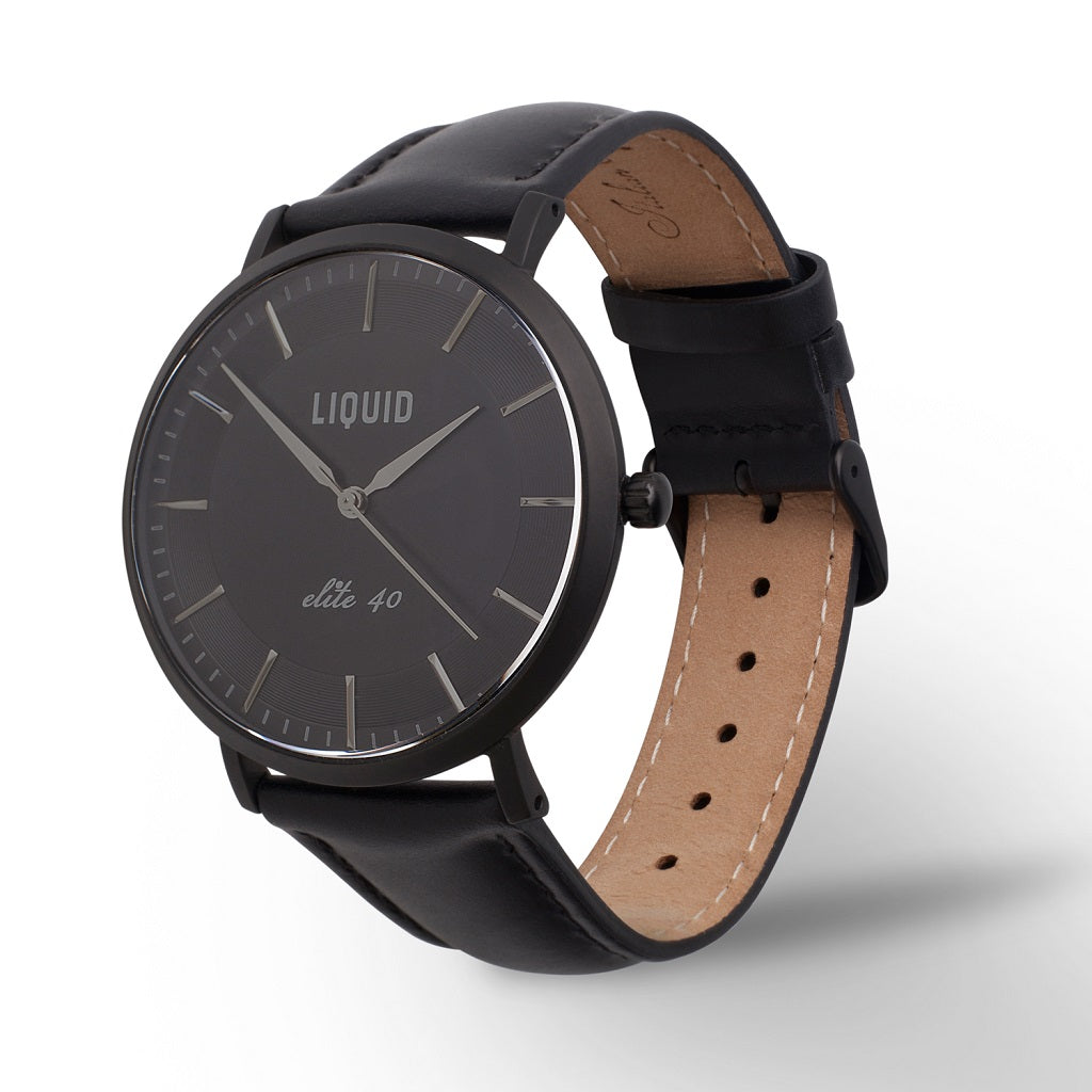 Matte Black Dress Watch by Liquid Co.