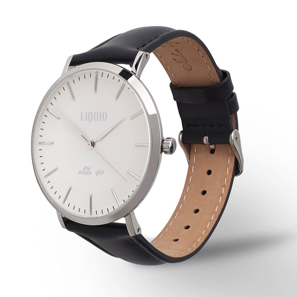 Silver / White Dress Watch by Liquid Co.