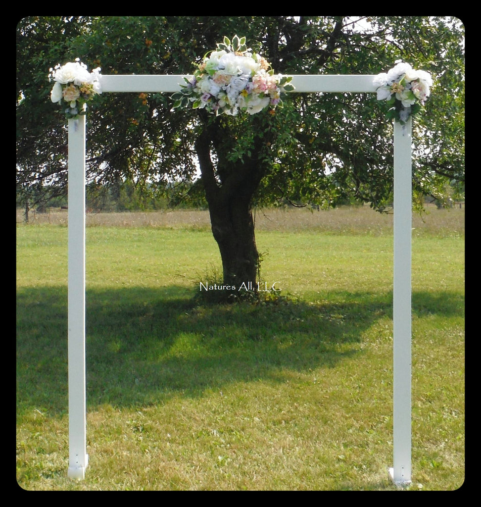Wedding Arch/Wedding Arbor/Rustic Wedding Arch/Complete Kit/ Indoors Or Outdoors/Country Wedding Backdrop/ White/Shipping Included