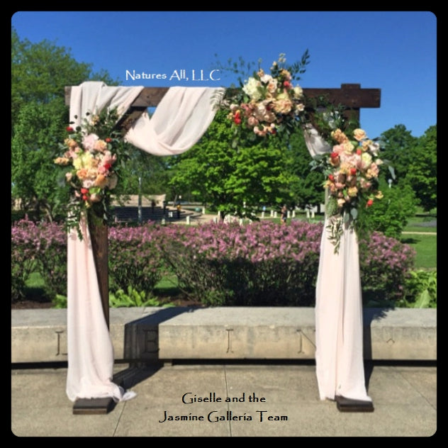Wedding Arch/Wedding Arbor/Rustic Wedding Arch/Complete Kit/ Indoors ...