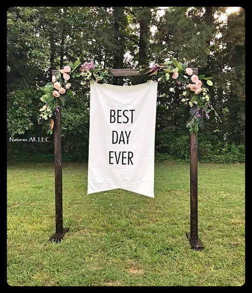ON SALE!!!Wedding Arch/Wedding Arbor/Rustic Wedding Arch/Complete Kit/ Indoors Or Outdoors/Country Wedding Backdrop/Dark Walnut/Shipping Included