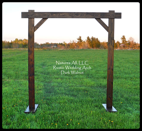 Wedding Arch/Wedding Arbor/Rustic Wedding Arch/Complete Kit/ Indoors Or Outdoors/Country Wedding Backdrop/Dark Walnut/Shipping Included