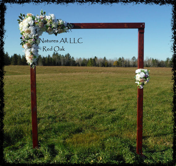 Wedding Arch/Wedding Arbor/Rustic Wedding Arch/Complete Kit/ Indoors Or Outdoors/Country Wedding Backdrop/Red Oak/Shipping Included