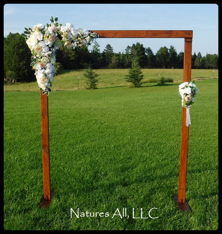 Wedding Arch/Wedding Arbor/Rustic Wedding Arch With Platform Stands Included/Indoors Or Outdoors/Country Wedding Backdrop/Provincial